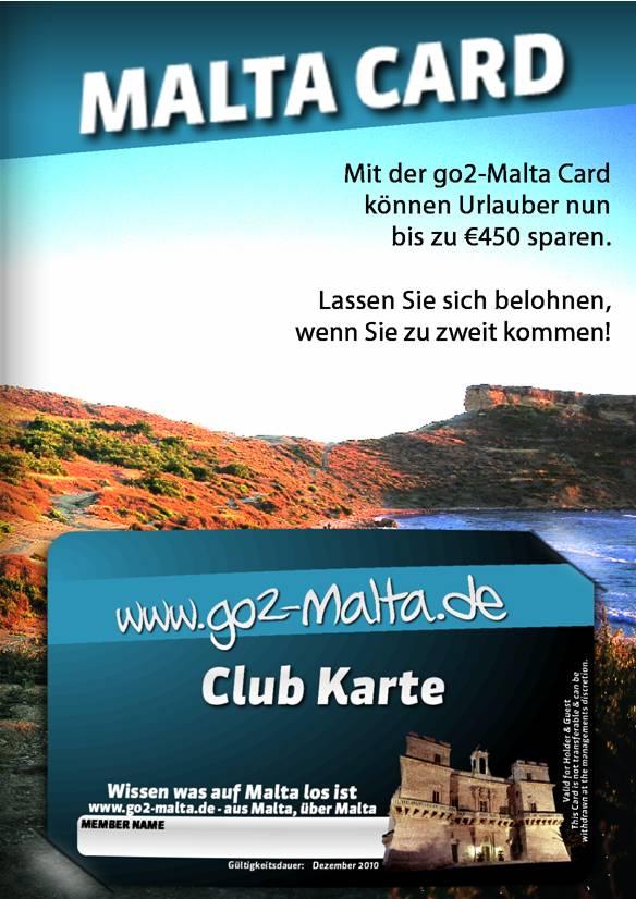 Malta Club Karte