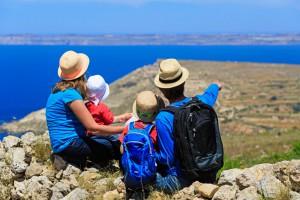 Familie auf Malta