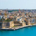 Valletta vom Mittelmeer aus gesehen